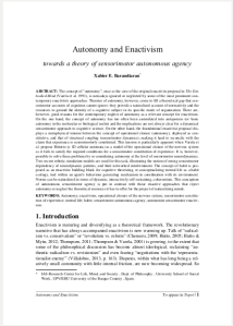 autonomy thesis + philosophy Notre dame philosophical reviews is an electronic, peer-reviewed journal that publishes timely reviews of scholarly philosophy books autonomy and the good life.